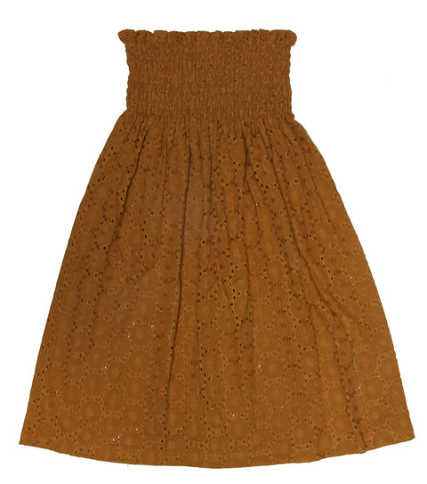 Alex & Ant Anita Rouched Skirt Mustard