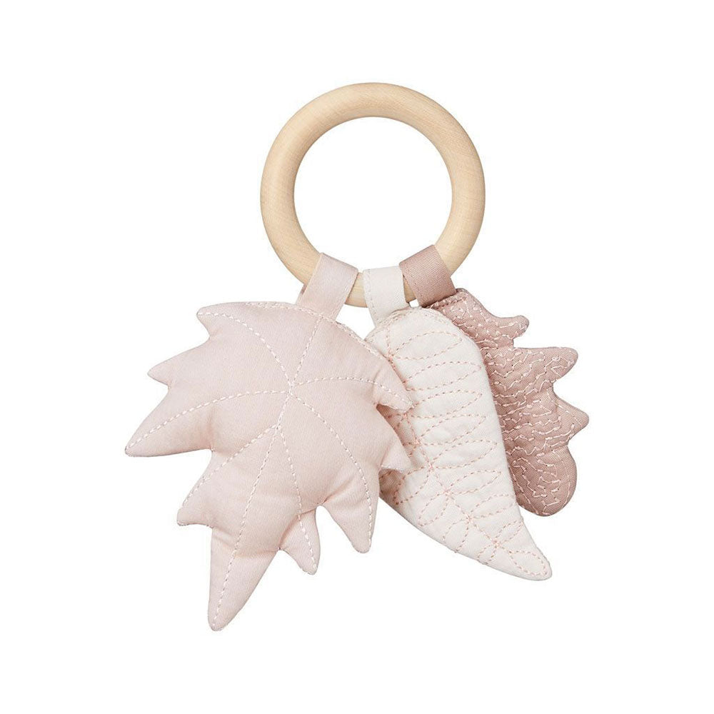 Cam Cam Copenhagen Leaves Rattle Mix Rose