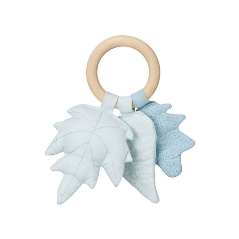 Cam Cam Copenhagen Leaves Rattle Mix Blue