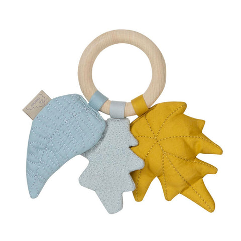 Cam Cam Copenhagen Leaves Rattle Mix Mustard