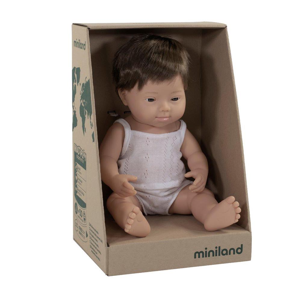 Miniland Caucasian Down Syndrome Boy 38cm