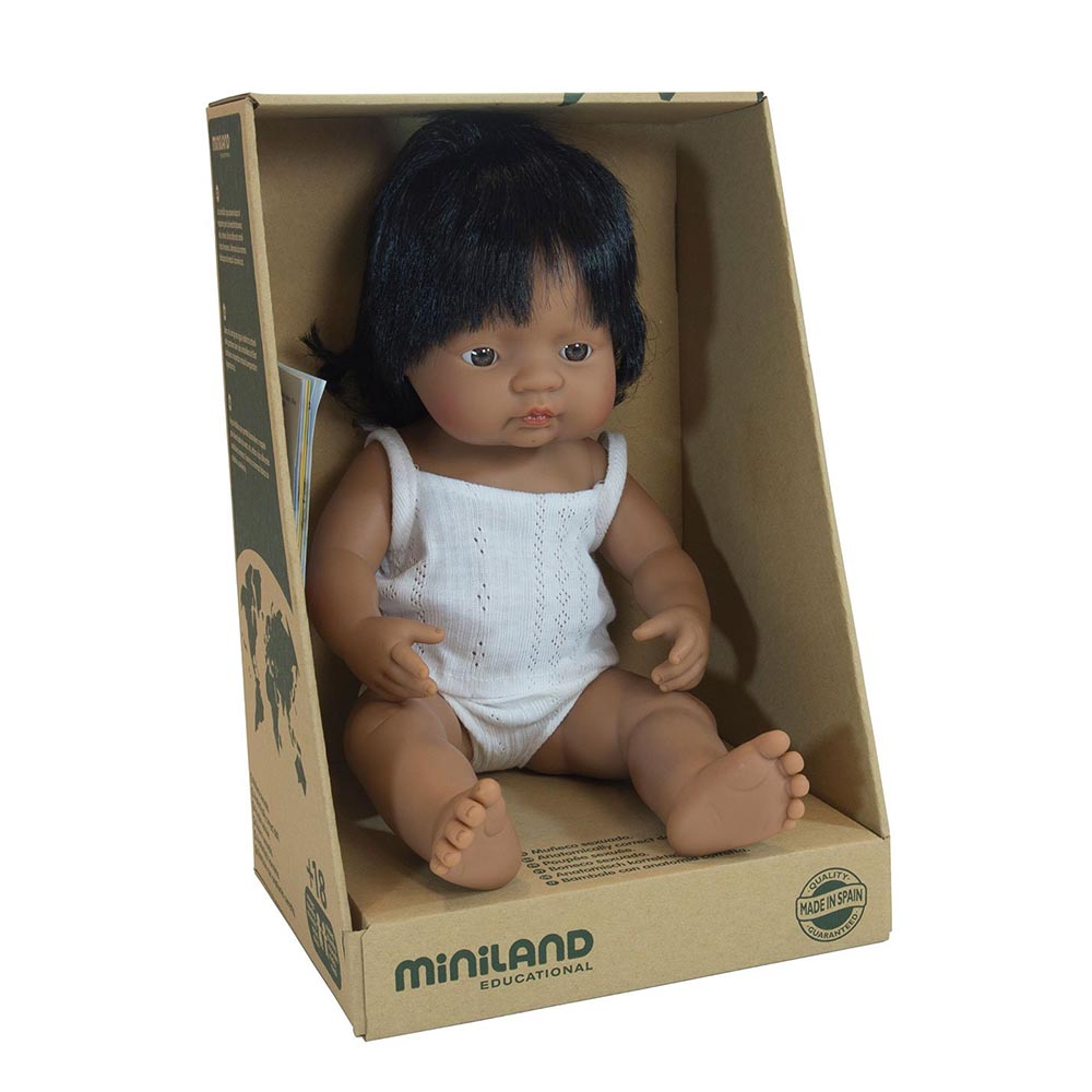 Miniland Hispanic Girl 38cm
