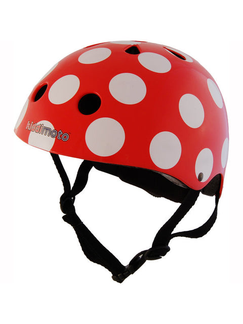 Kiddimoto Red Dotty Helmet