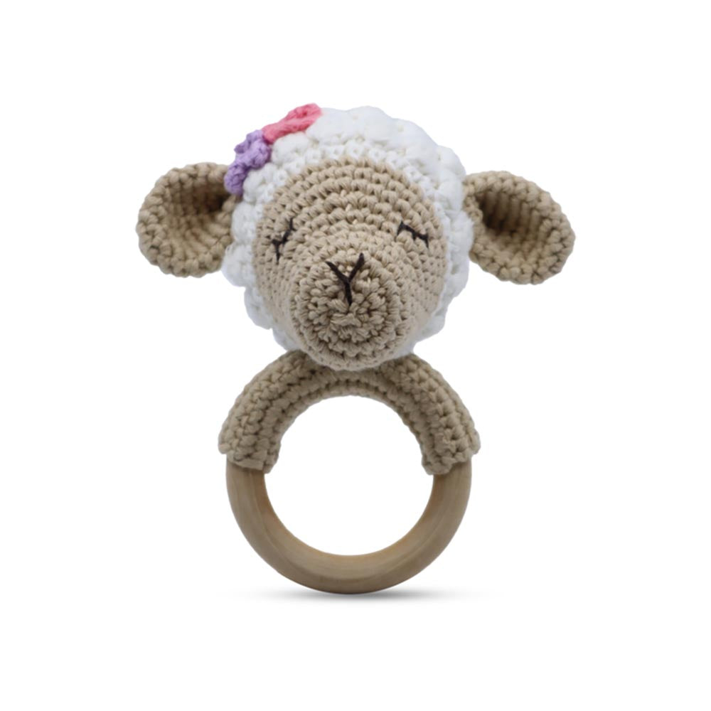 Snuggle Buddies Shaker Ring Lamb