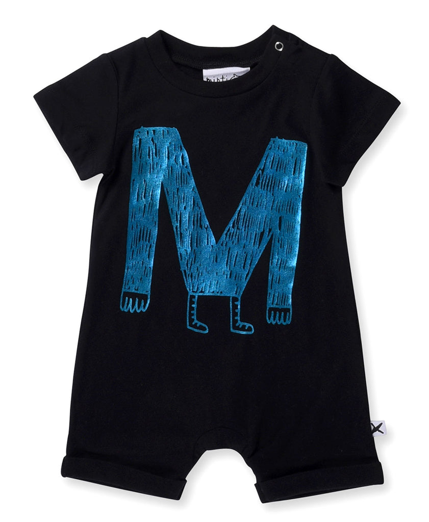 Minti Baby M Monster Brooklyn Suit Black