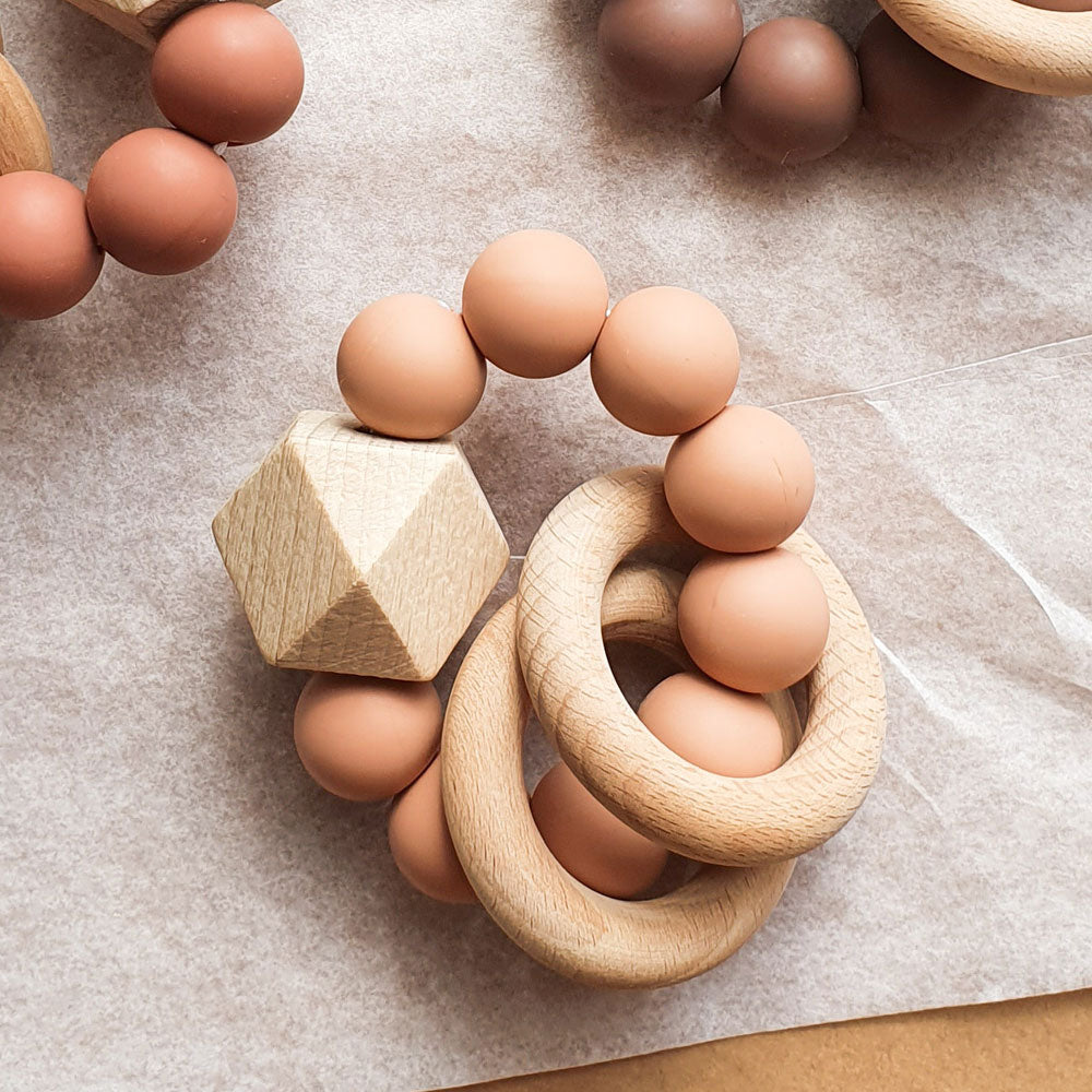 Dove & Dovelet Titan Silican Teether Muted Clay