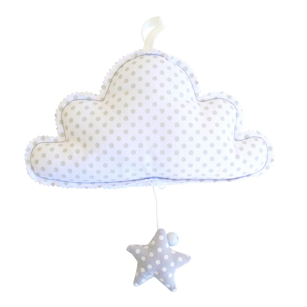 Alimrose Cloud Musical Mobile Ivory Grey
