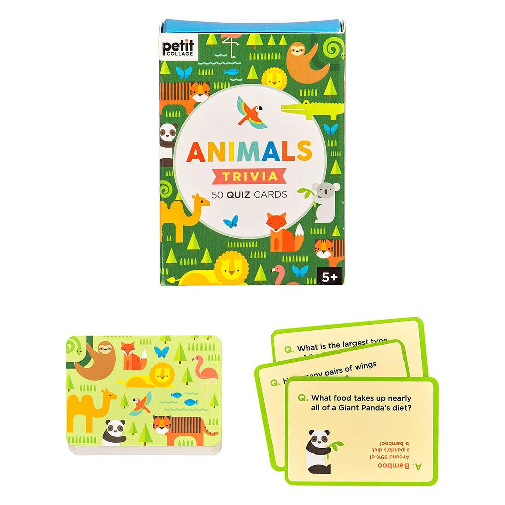 Petit Collage Trivia Cards Animals