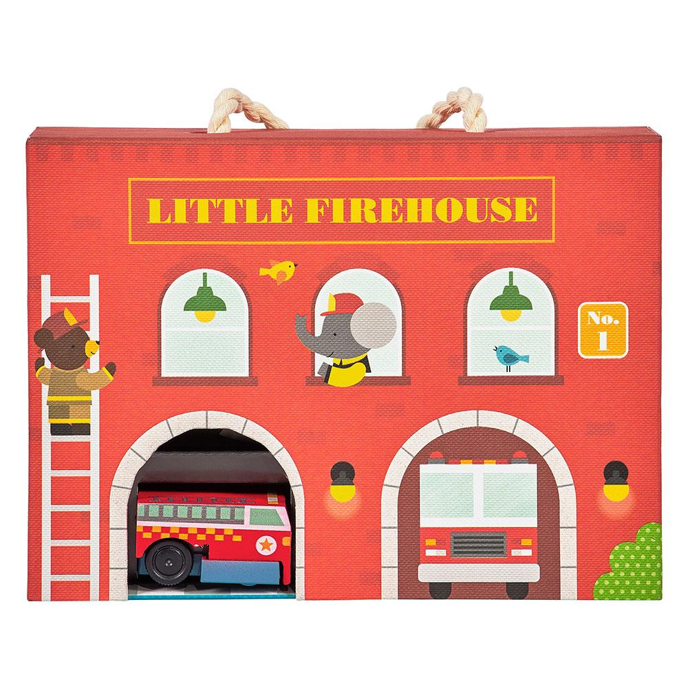 Petit Collage Wind Up & Play Fire Station