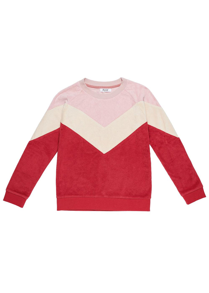 Play Etc Retro Sweat Pink / Burgandy