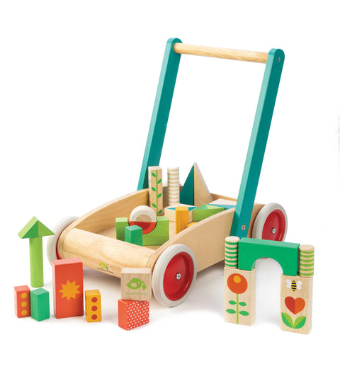 Tender Leaf Toys Wagon with Blocks