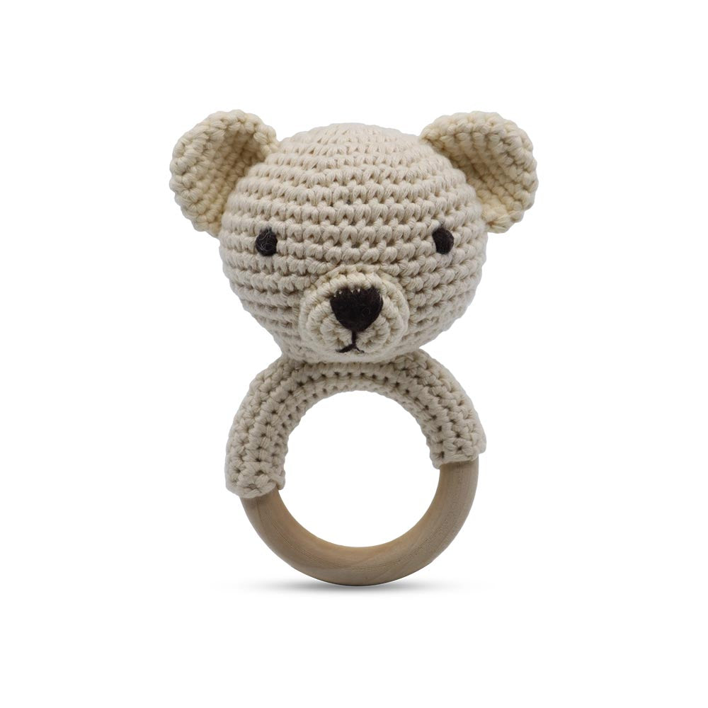 Snuggle Buddies Shaker Ring Teddy