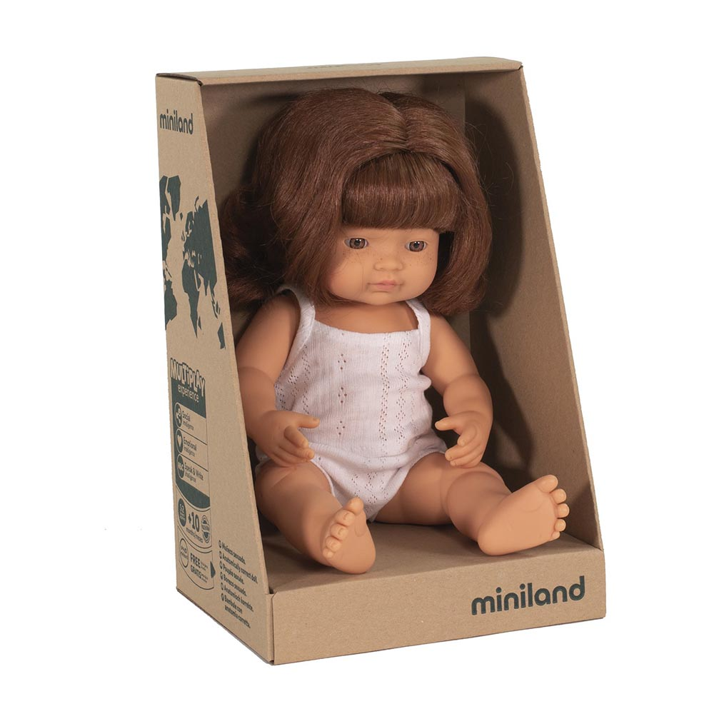 Miniland Caucasian Girl Red Head 38cm