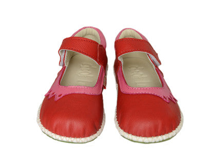 Chook Leaf Crown Shoe Red Pink