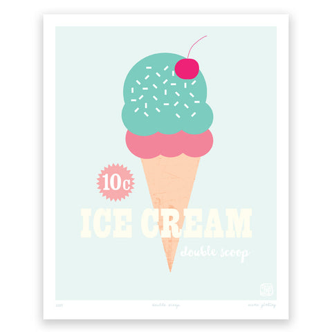 Printspace Double Scoop Art Print