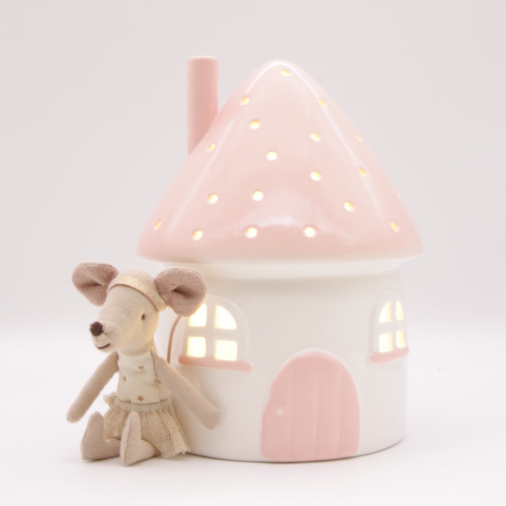 Little Belle Elfin House Pink Night Light