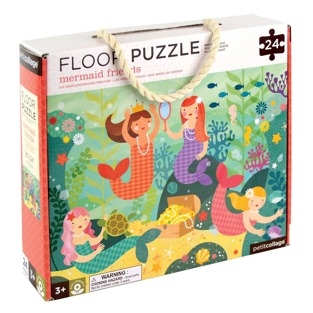 Petit Collage Floor Puzzle Mermaids