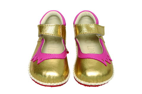 Chook Leaf Crown Shoe Gold Pink