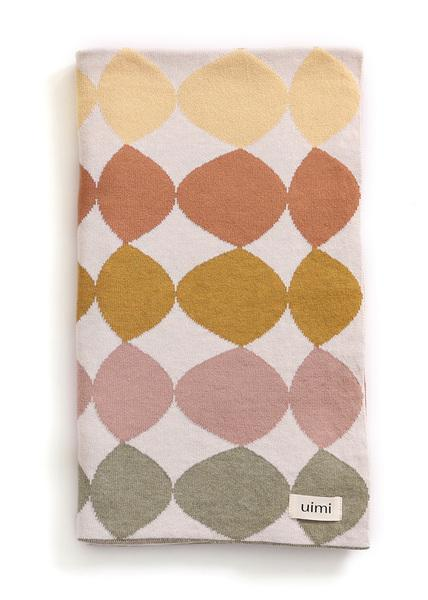 Uimi Pebbles Cotton Blanket Terracotta