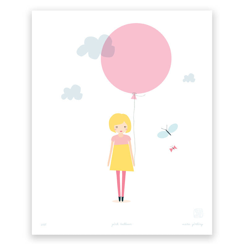 Printspace Pink Balloon Art Print