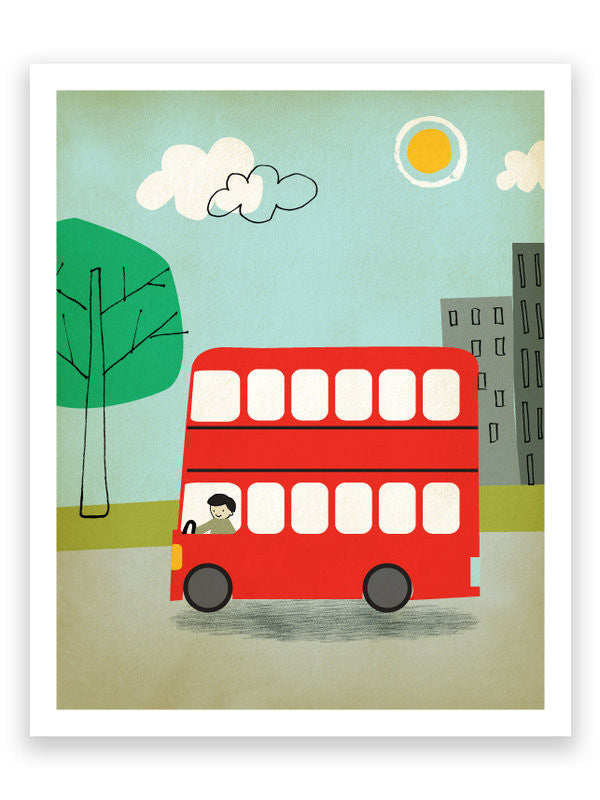 Printspace Transport London Bus Art Print