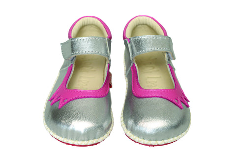 Chook Leaf Crown Shoe Silver Pink