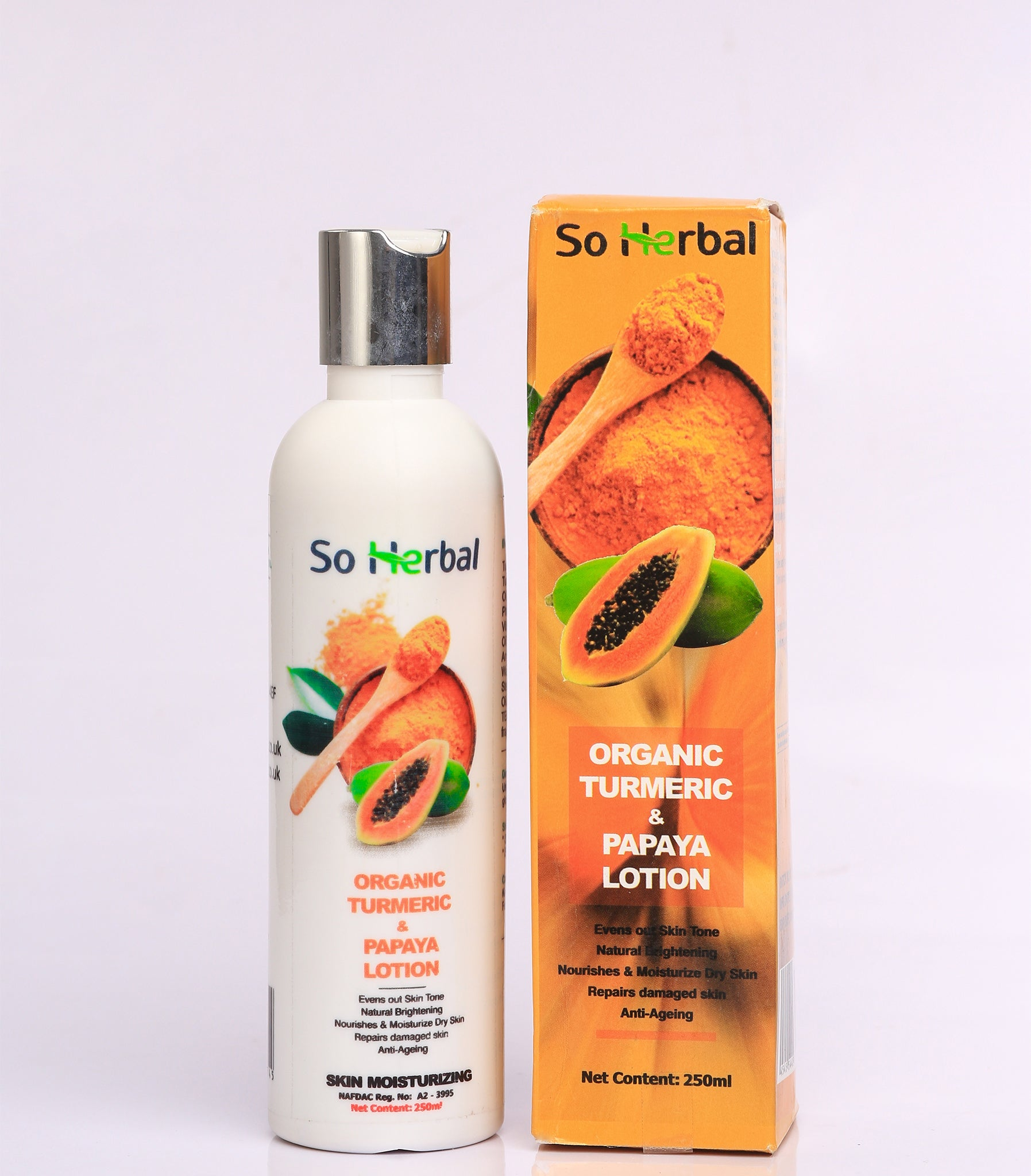 Organic Turmeric & Papaya Lotion