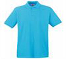 Load image into Gallery viewer, Destiny Coach - Azure Blue Short Sleeve Polo Shirt (male fit/baggy fit)