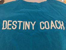 Load image into Gallery viewer, Destiny Coach - Azure Blue Short Sleeve T Shirt (male fit /baggy fit)