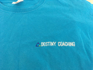 Destiny Coach - Azure Blue Short Sleeve Polo Shirt (female fit / tailored fit)