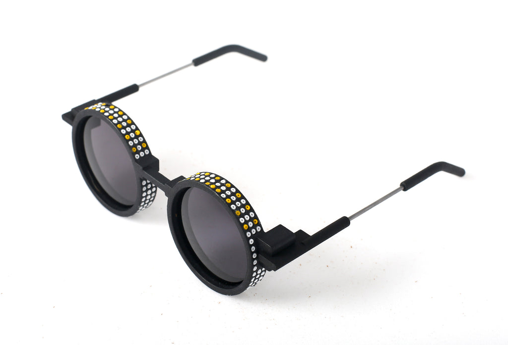 Lalesso x 20 Eight  3D Printed Eyewear with African Bead Inlay