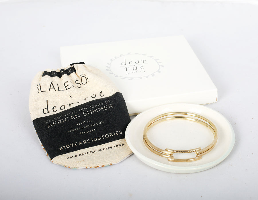 Lalesso x Dear Rae    Bangles and Ceramic Jewellery Dish