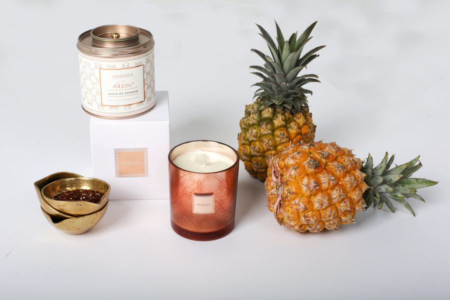 Lalesso x Yswara  Tea and Candle set with Scarab Beetle Pendant