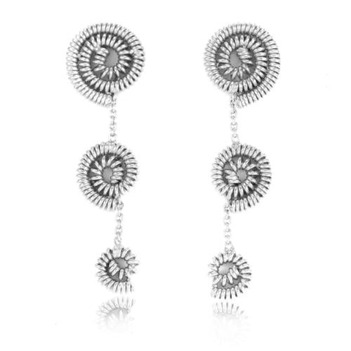 Twisted Spirals - Short Dangler Drop Earrings