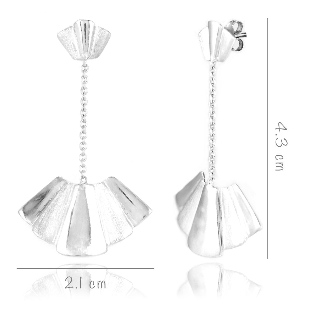 Fanning Fans - Short Dangler Drop Earrings - Aliame