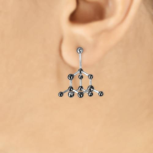 Diamond Molecule - Stud Earrings - Aliame
