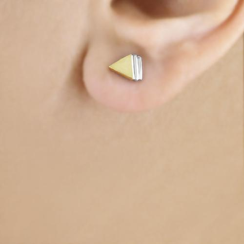 Tryst with Triangles - Stud Earrings - Aliame