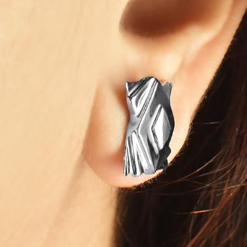 Stepped Squares - Stud Earrings - Aliame
