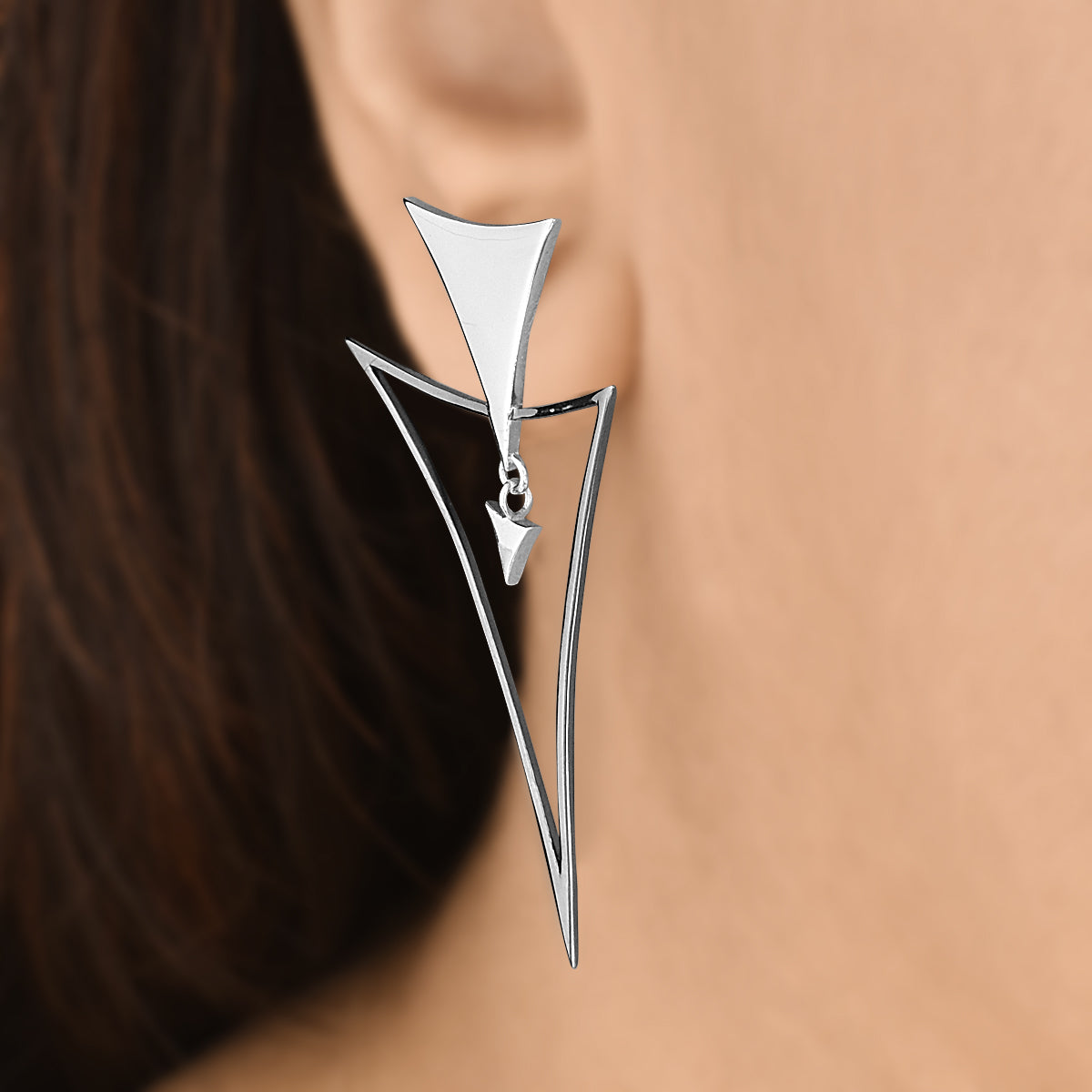 Trendy Triangles - Drop Earrings - Aliame