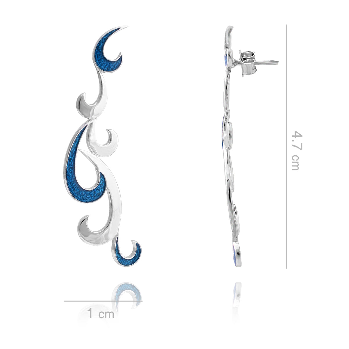 Wavering Waves - Drop Earrings - Aliame