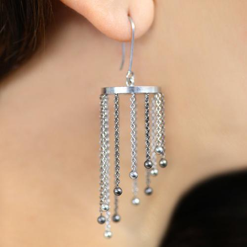 Classy Chandelier - Long Dangler Tassel Earrings - Aliame