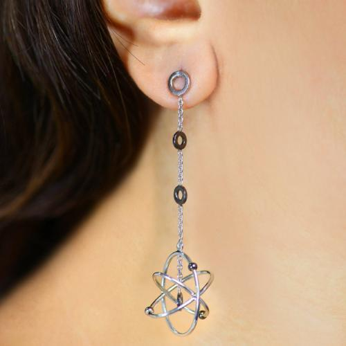 Amazing Atoms Long - Long Dangler Drop Earrings