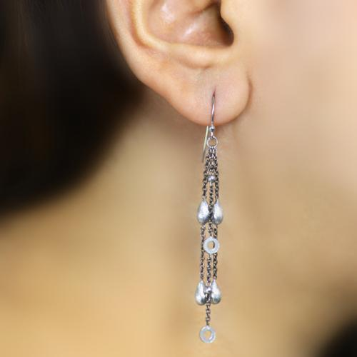 Stunning Shapes - Long Dangler Drop Earrings - Aliame