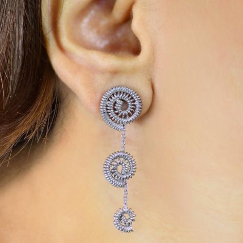 Twisted Spirals - Short Dangler Drop Earrings - Aliame