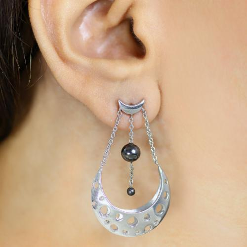 Myriad Moons - Short Dangler Drop Earrings - Aliame