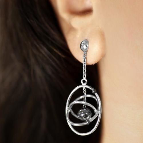 Amazing Atoms - Short Dangler Drop Earrings - Aliame