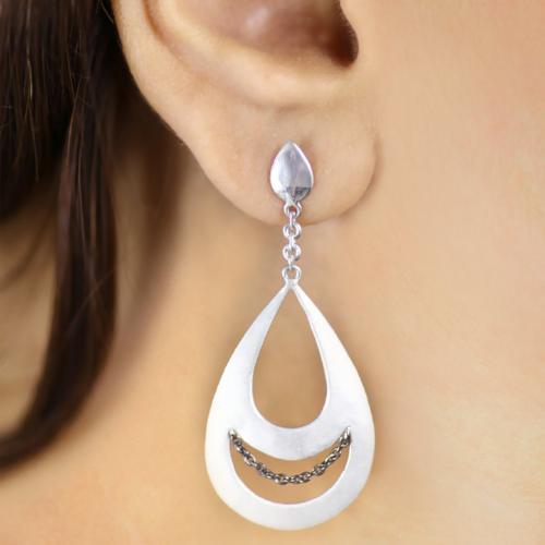 Mission Moon - Long Dangler Drop Earrings - Aliame