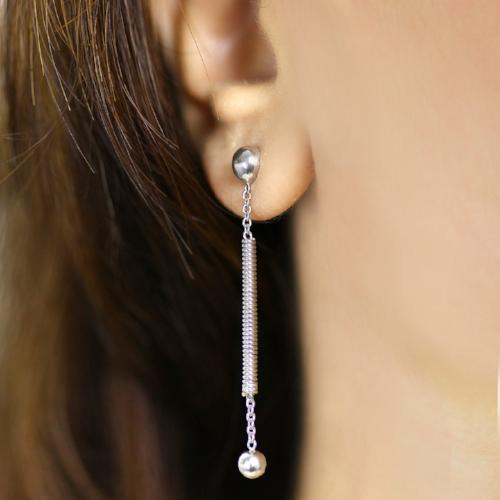 Straightly twisted - Long Dangler Drop Earrings - Aliame