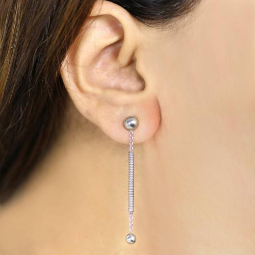 Straightly twisted - Long Dangler Drop Earrings