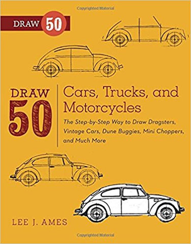 DRAW 50 CARS,TRUCKS & MOTORCYCLES
